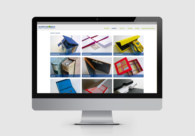 Buchbinderei Schäffler – Responsive Website