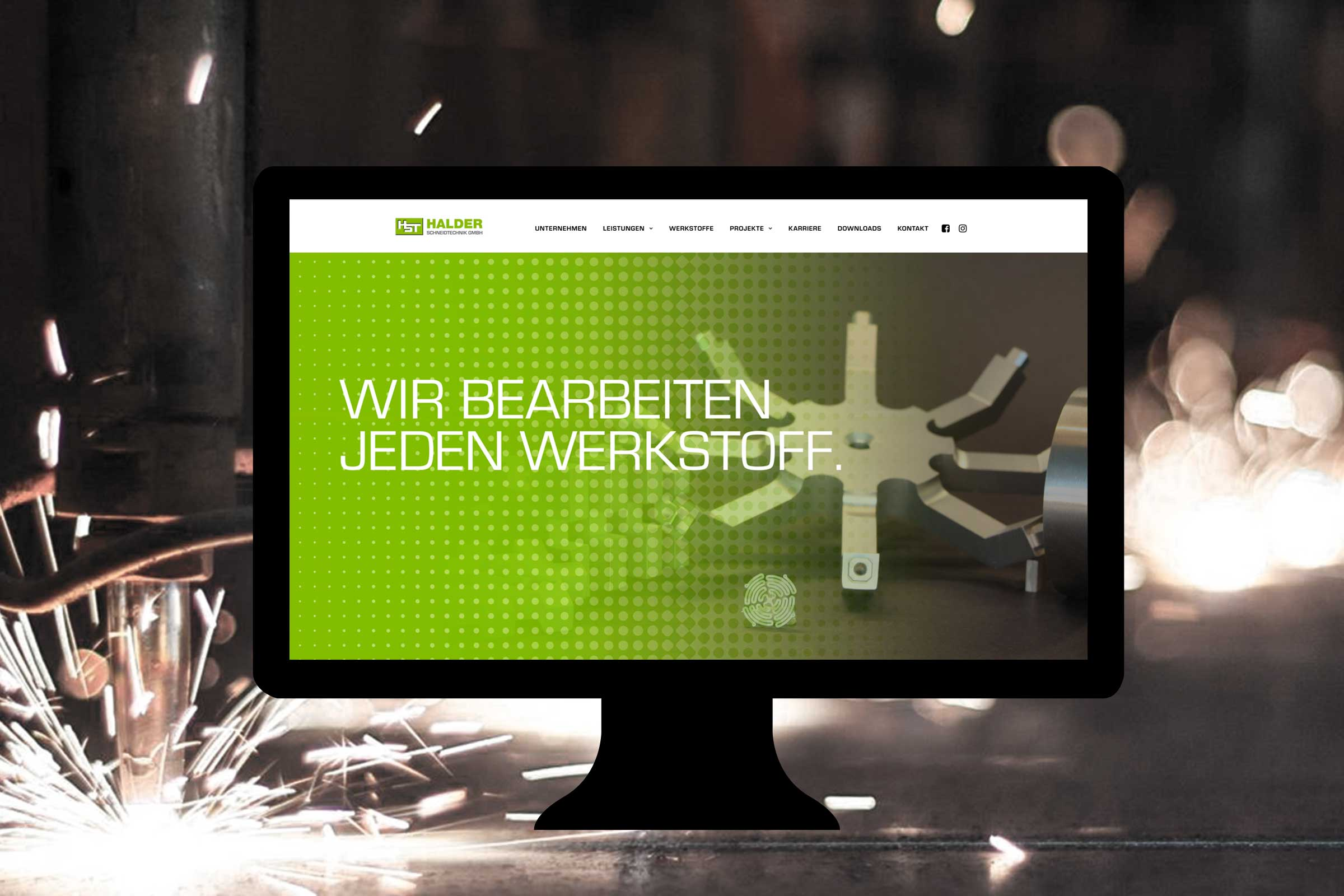 halder schneidtechnik website relaunch