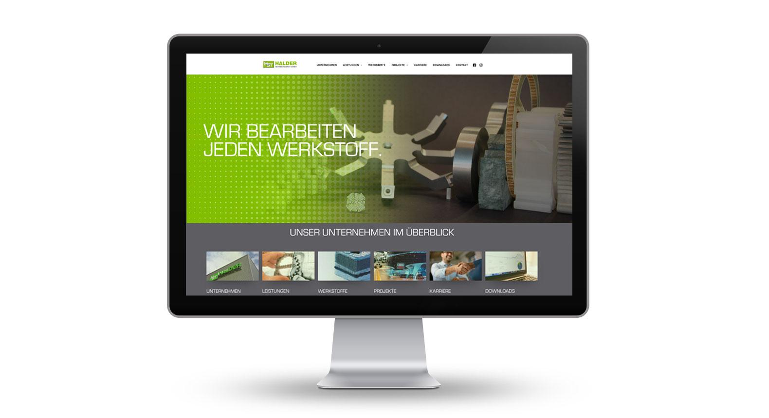 halder schneidtechnik website relaunch